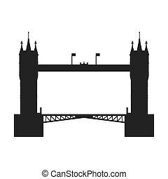 tower bridge icon United kingdom design Vector graphic -...