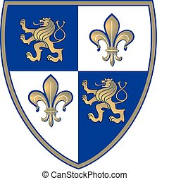 coat of arms, Lion and Lillie