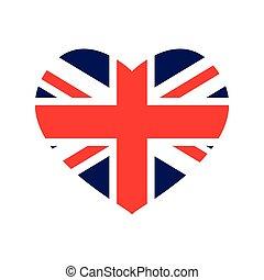 Flag icon. United kingdom design. Vector graphic