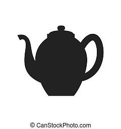 tea kettle icon Tea design Vector graphic - Tea concept...