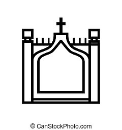 tower bridge icon. United kingdom design. Vector graphic -...