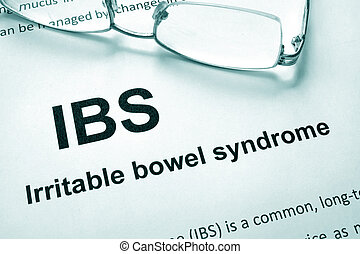 Irritable bowel syndrome (IBS) - Paper with words Irritable...