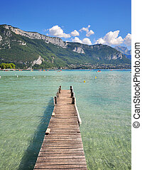 Annecy lake, France - Annecy lake, Haute Savoie, France