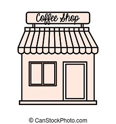coffee shop building icon