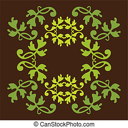 antique vector design element in green colors