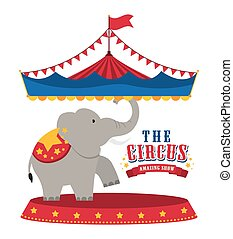 Elephant icon. Circus and Carnival design. Vector graphic