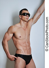 Athletic man with six-pack - Athletic man with six-pack abs