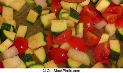 Braised vegetables - Braised zucchini and other vegetables...