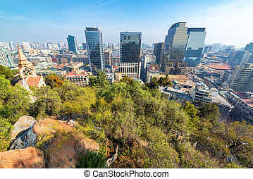 Wide Angle View of Santiago, Chile