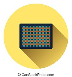 Icon of photo camera sensor. Flat color design. Vector...