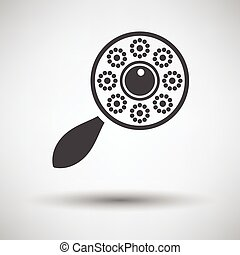 Beanbag icon on gray background, round shadow. Vector...