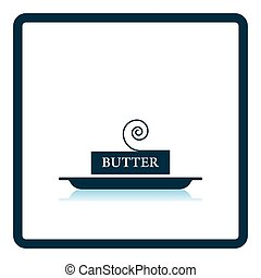 Butter icon Shadow reflection design Vector illustration