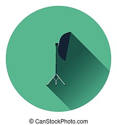 Icon of softbox light. Flat color design. Vector...