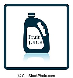 Fruit juice canister icon Shadow reflection design Vector...