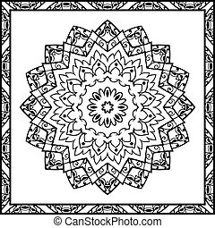 Vector filigree pattern - Oriental pattern of mandalas...