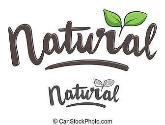 Natural Hand Writing Typography Art - Vector stock of...