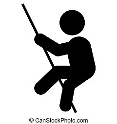 pole vault pictogram icon