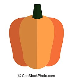 bell pepper icon - simple flat design bell pepper icon...