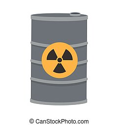 toxic waste contamination icon - flat design toxic waste...