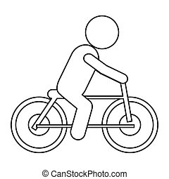 bike riding pictogram icon