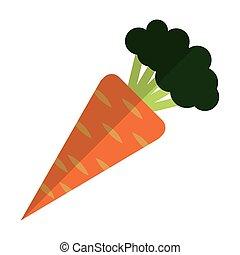 cenoura, inteiro, ícone