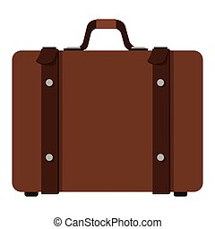suitcase with handle icon - flat design suitcase with handle...