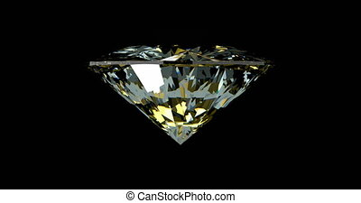Loopable rotating diamond over black background