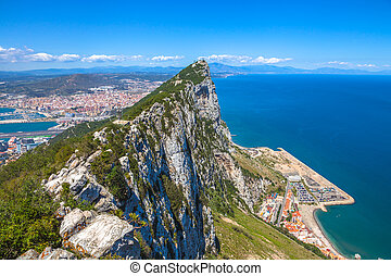Gibraltar aerial view - Aerial view of top of Gibraltar...