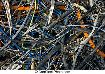 Cables - Messy pile of discarded cables