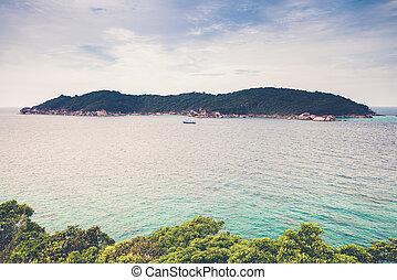 View point at Donald Duck Bay at Ko Similan Island in...