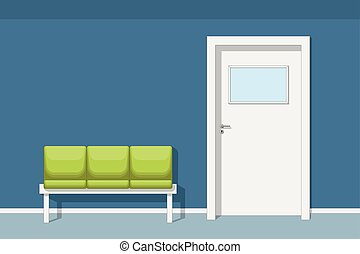 Illustration of a waiting room with chair