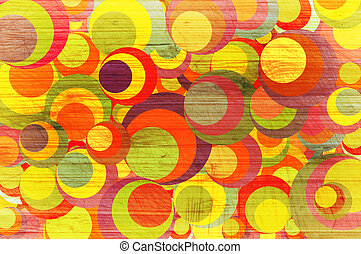 Abstract background with colour circles.