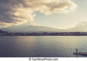 MtFuji seen from Kawaguchiko lake,
