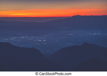 sunrise view point , doi angkhang , chiangmai , thailand...