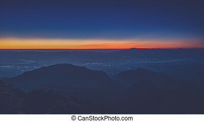 sunrise view point , doi angkhang , chiangmai , thailand