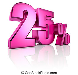 Twenty Five Percent Sign - Pink twenty five percent sign...