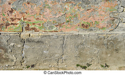 Wall 0112 - wall of the old house in Dobrica, Banat