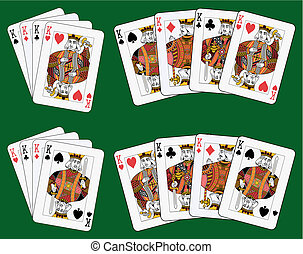 Four kings - Playing cards: four kings in four different...