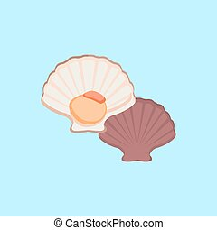 Oysters Vector Illustration - Oysters in colour variant...