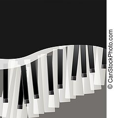piano keys abstract musical background with space for text. vector illustration