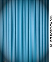 blue curtain background vector illustration
