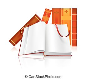 open book with sign. vector illustration