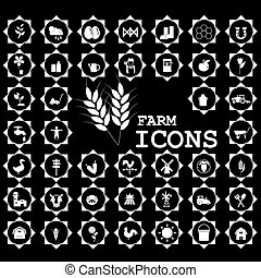 White icon for farming and agriculture