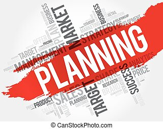 Planning word cloud, business concept