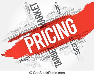 Pricing word cloud, business concept