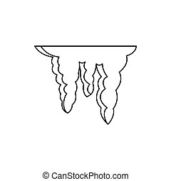 Icicles icon, outline style - Icicles icon in outline style...
