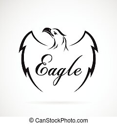 Vector of eagle design on white background. Vector eagle for...