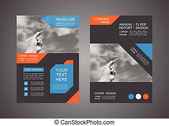 modern flyer design, cover template