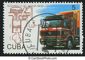 postmark - CUBA - CIRCA 1993: stamp printed by Cuba, shows...