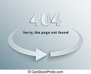 404 Error Page - 404 Error background with reboot round...